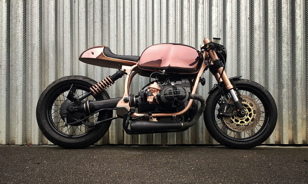 BMW R100R copper cafe racer
