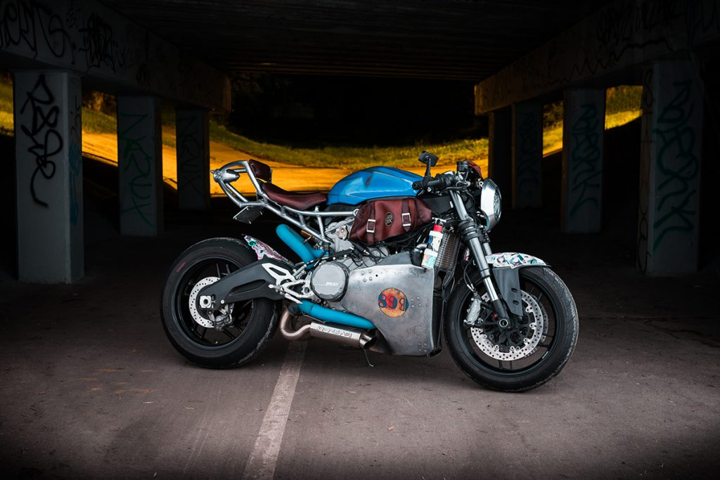 Ducati motorcycle cafe racer