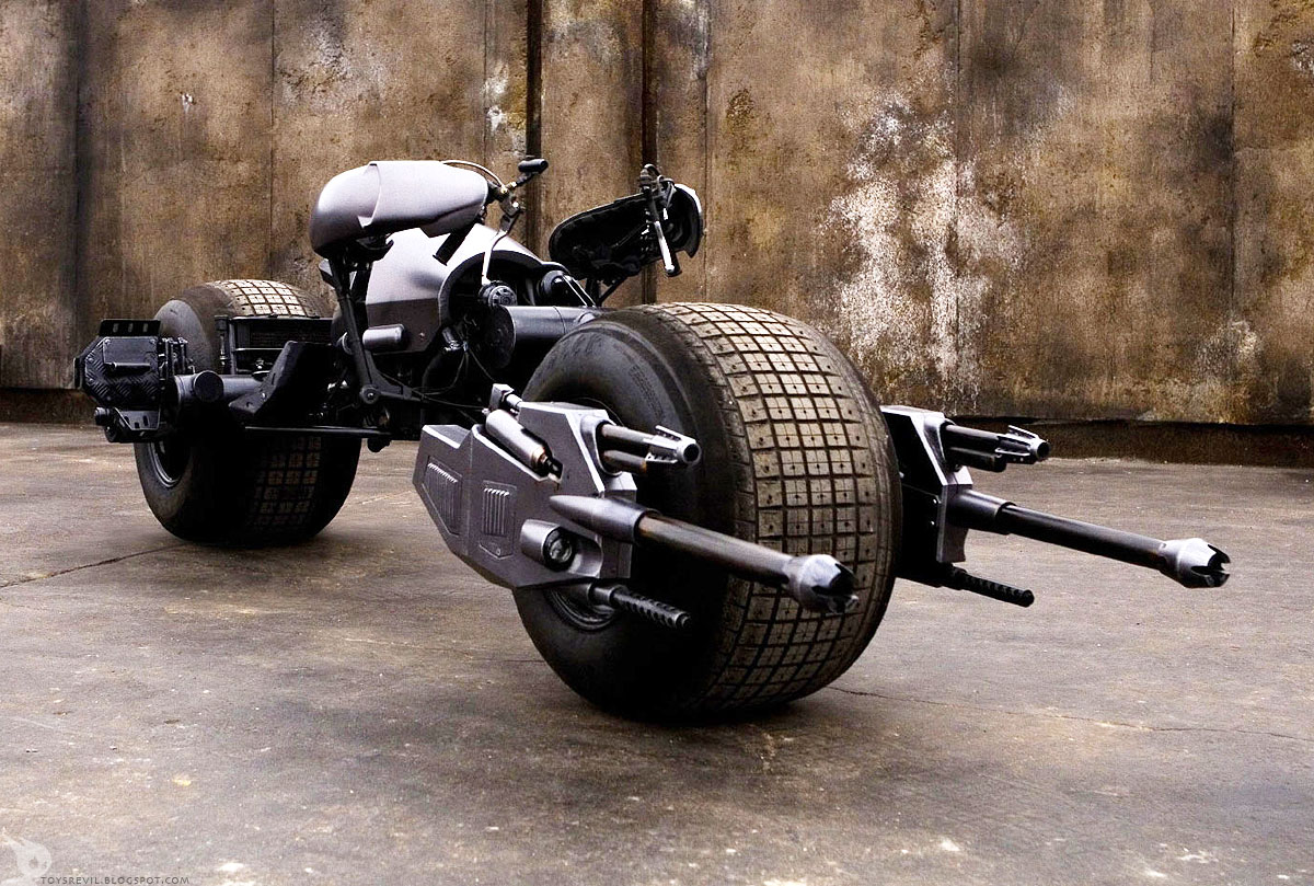 Return of the Cafe Racers - Dark Knight Rises Batpod motorcycle