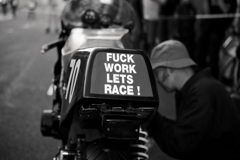 Return of the Cafe Racers - F*CK WORK LETS RACE by Kristina Fender