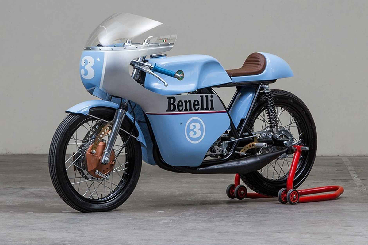 Return of the Cafe Racers - Rhapsody in Blue – 1968 Benelli 250 Tribute