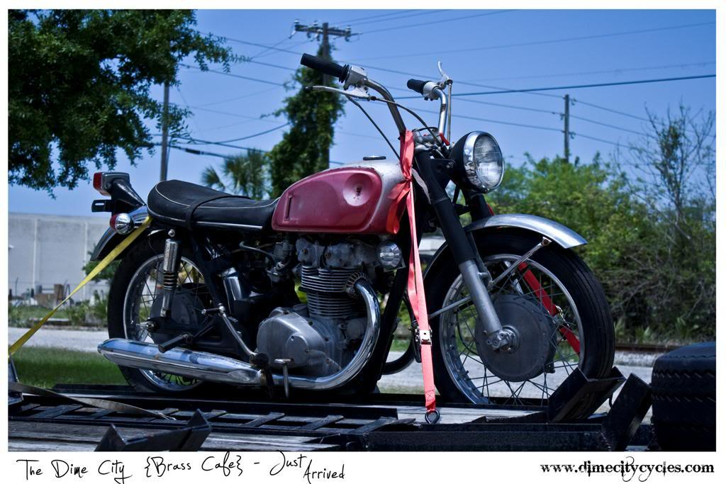 "Return of the Cafe Racers - Dime City Cycles ""Brass Cafe"""