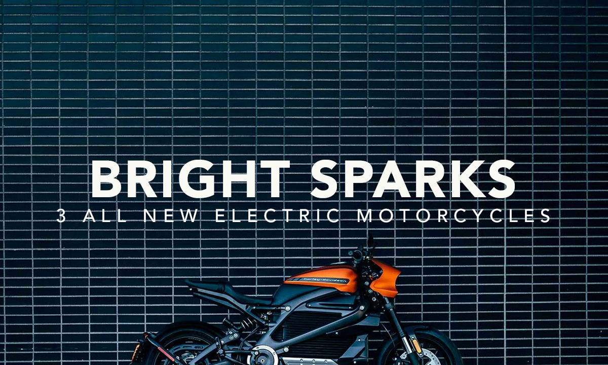 3 new electric motorcycles
