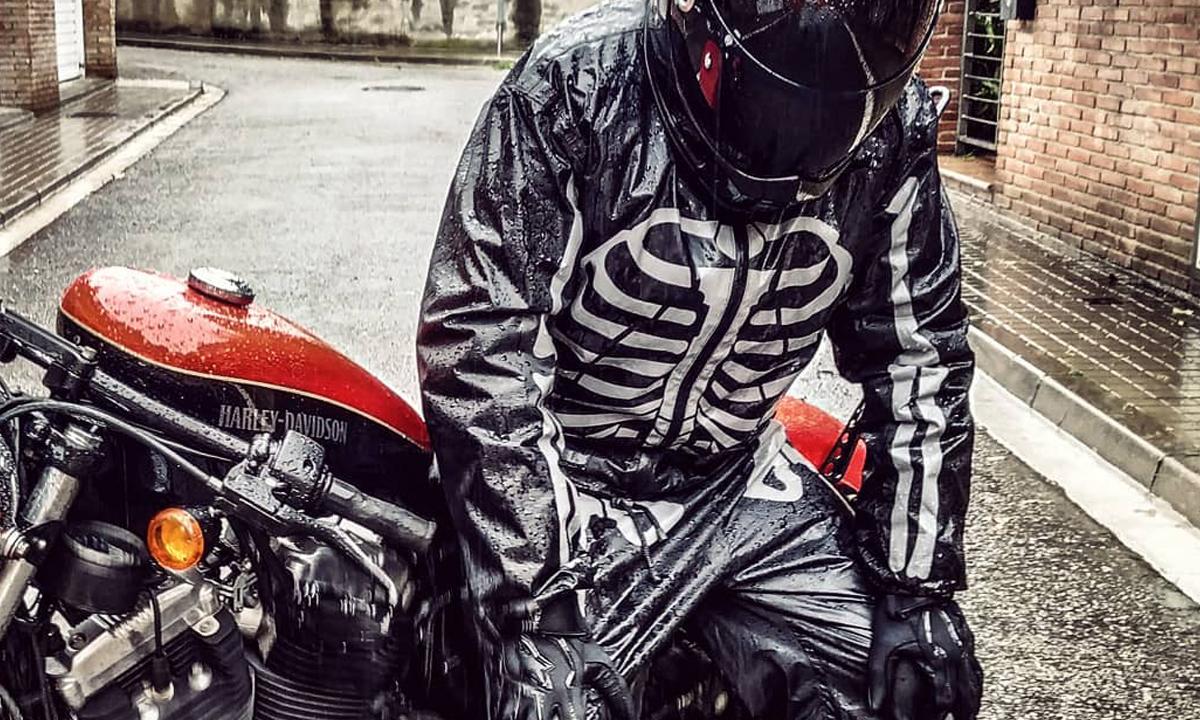 Fuel Day of the Dead rain suit