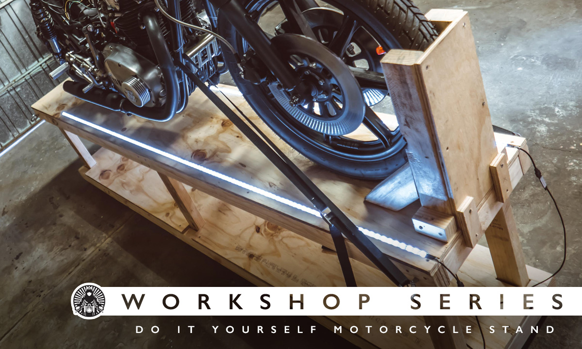 DIY motorcycle Stand
