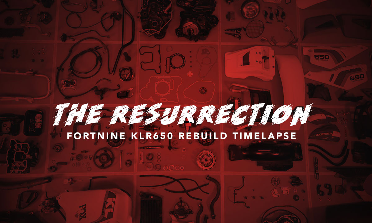 Kawasaki KLR650 rebuild