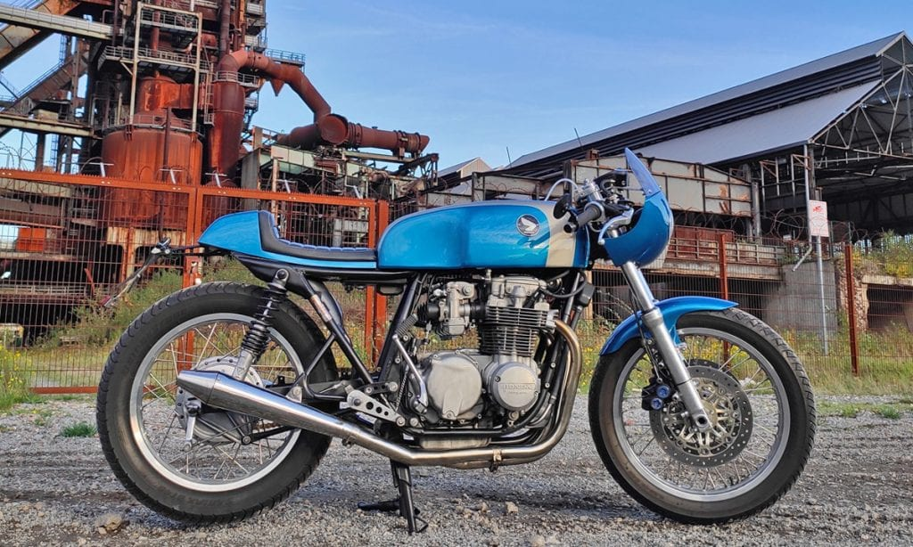 Return of the Cafe Racers - Wiese Crack – '76 CB550 Cafe racer