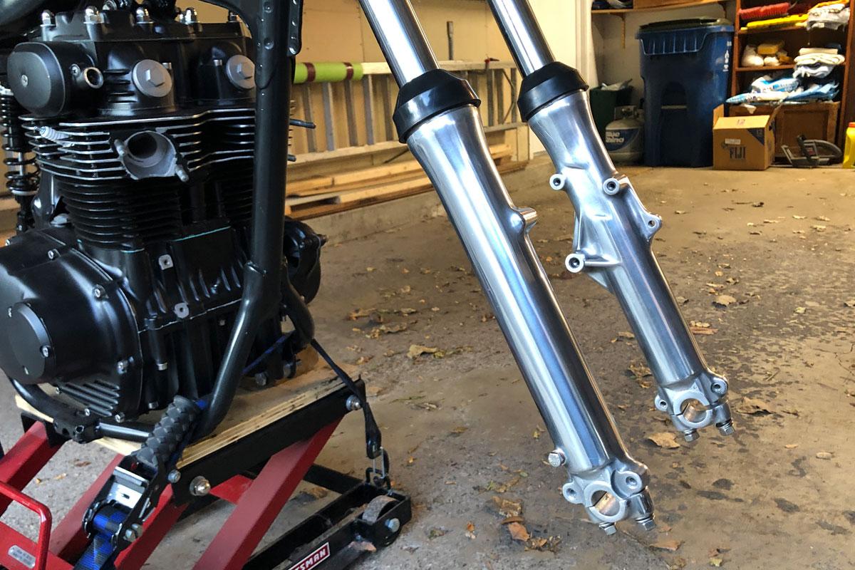 polishing aluminum motorcycle parts