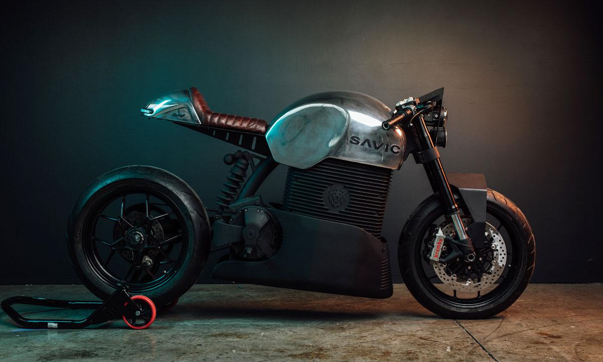 The Australian made Savic Electric Motorcycle