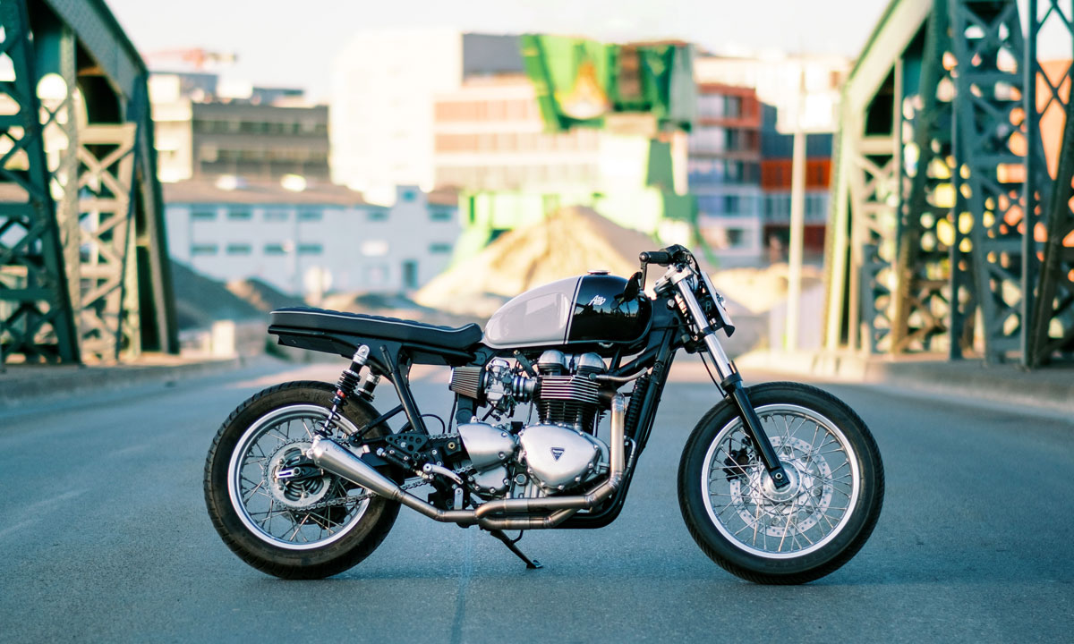Return of the Cafe Racers - Street Tracked Trump – AMP Moto Thruxton 900