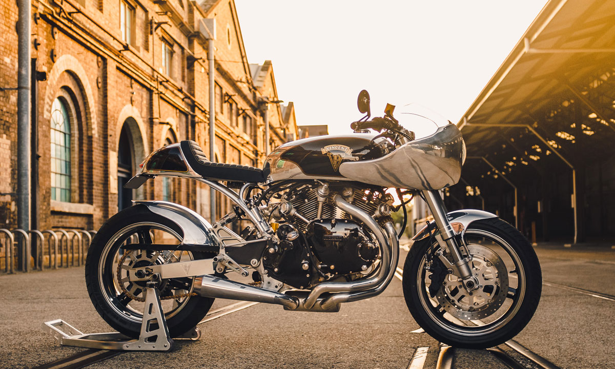 Return of the Cafe Racers - Simon's Shadow – A Modern Vincent Cafe Racer