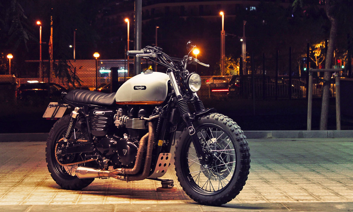 Return of the Cafe Racers - Absolut McQueen – Bonneville 865 Scrambler