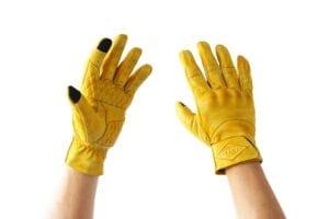 Liberta Cobra Yellow Motorcycle Gloves