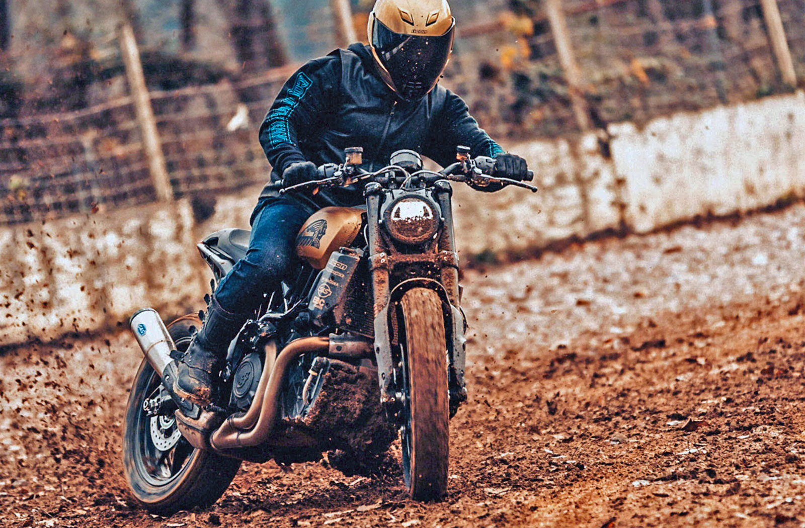 Icon boots flat track racing