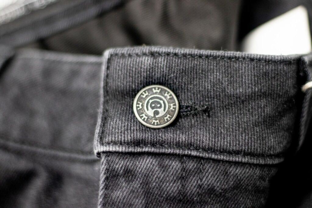 Pando Moto jeans front button