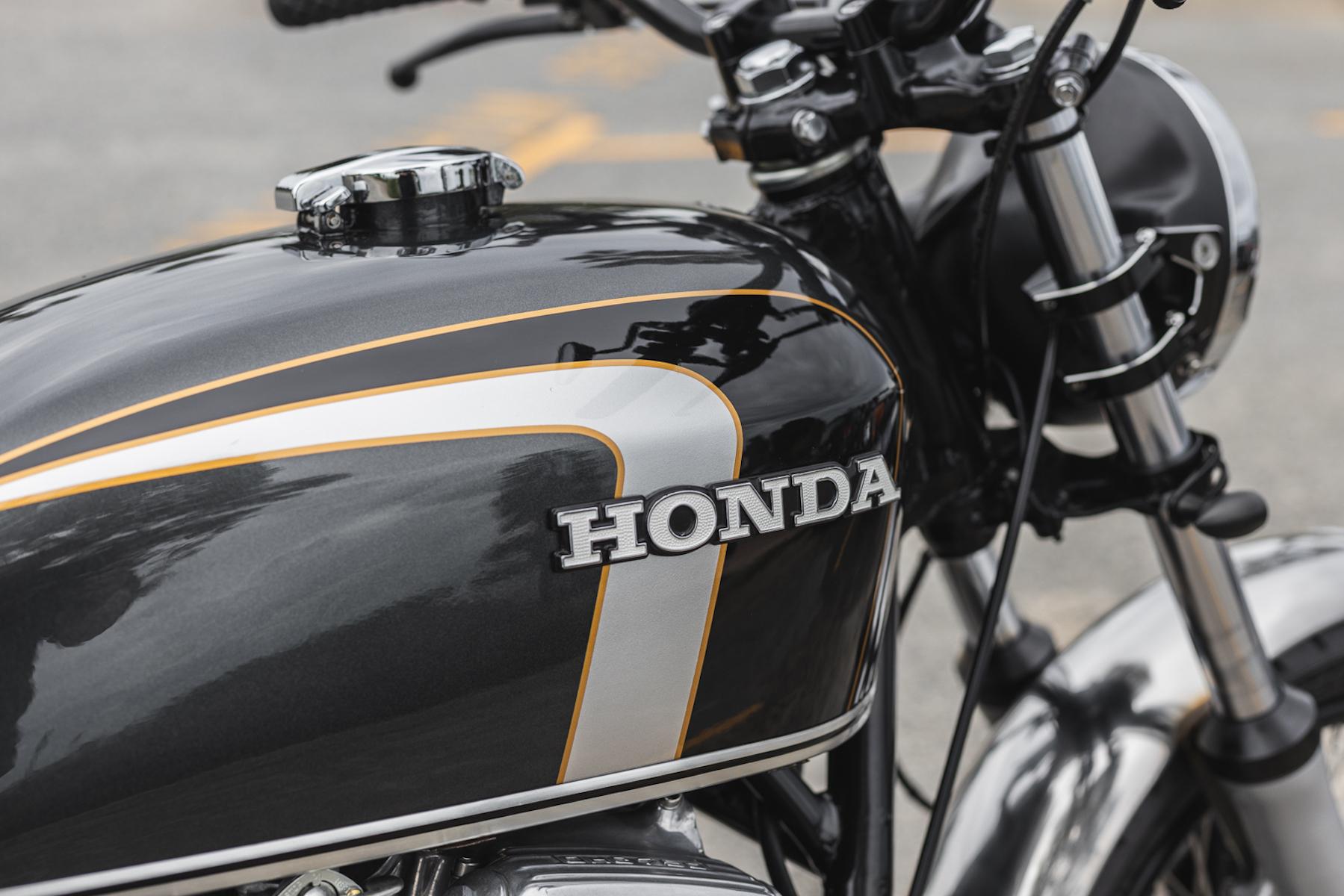 A close-up of a Honda CB750